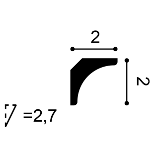 Gzyms/ listwa przypodłogowa ORAC DECOR CX133