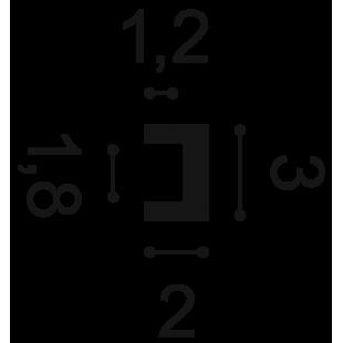 Listwa przypodłogowa/ profil ścienny/ listwa oświetleniowa flex ORAC DECOR CX190F