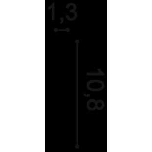 Listwa przypodłogowa flex ORAC DECOR SX105F