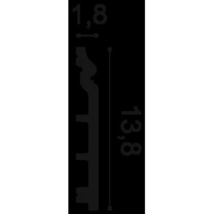Listwa przypodłogowa flex ORAC DECOR SX118F