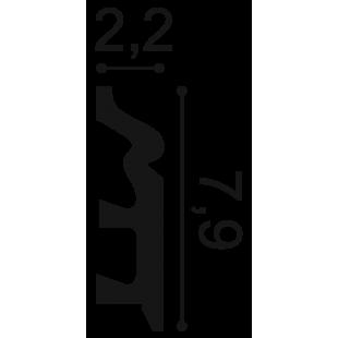 Listwa przypodłogowa ORAC DECOR SX122