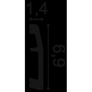 Listwa przypodłogowa ORAC DECOR SX125