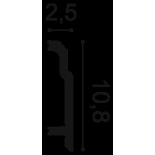Listwa przypodłogowa flex ORAC DECOR SX155F