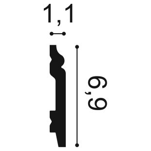 Listwa przypodłogowa ORAC DECOR SX165