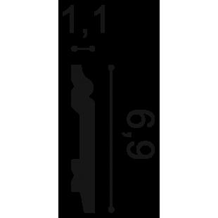Listwa przypodłogowa flex ORAC DECOR SX165F