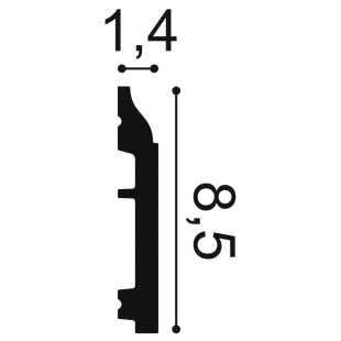 Listwa przypodłogowa ORAC DECOR SX172