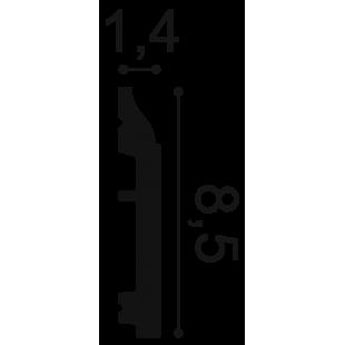 Listwa przypodłogowa flex ORAC DECOR SX172F