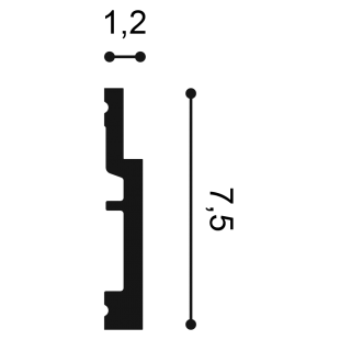 Gzyms/ listwa przypodłogowa ORAC DECOR SX187