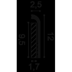 Listwa przypodłogowa ORAC DECOR SX185