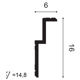 Gzyms - osłona karnisza ORAC DECOR C391