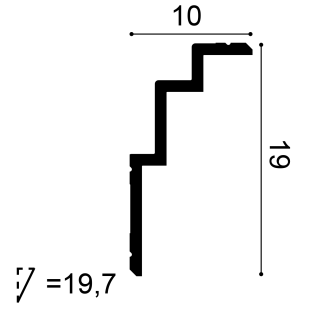 Gzyms - osłona karnisza ORAC DECOR C392