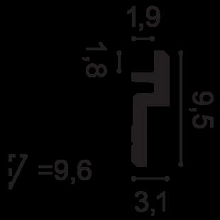 Gzyms - osłona karnisza ORAC DECOR C394