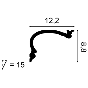 Gzyms flex - osłona karnisza ORAC DECOR C341F Heritage
