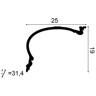Gzyms - osłona karnisza ORAC DECOR C343 Heritage