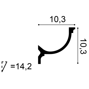 Gzyms - listwa oświetleniowa flex ORAC DECOR C902F