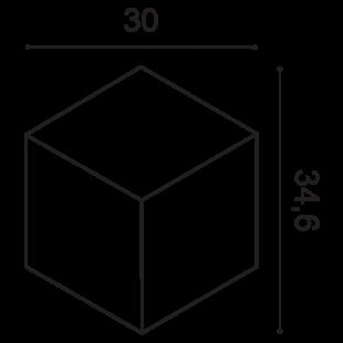 Panel ścienny 3D ORAC DECOR W105 Romb