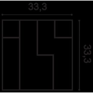 Panel ścienny 3D ORAC DECOR W102 Cubi