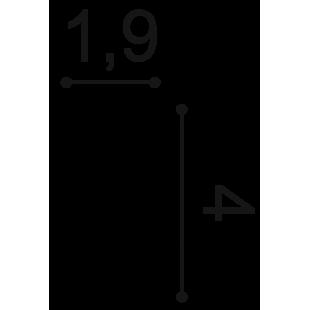 Profil ścienny flex ORAC DECOR PX120F