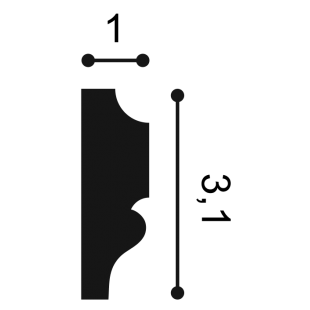 Profil ścienny ORAC DECOR PX116
