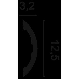 Profil ścienny ORAC DECOR P3070 Radius