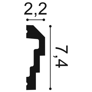 Profil ścienny ORAC DECOR P7070