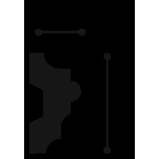 Profil ścienny ORAC DECOR P9040