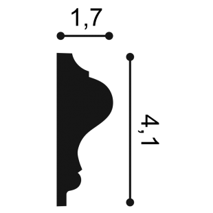 Profil ścienny ORAC DECOR P8030