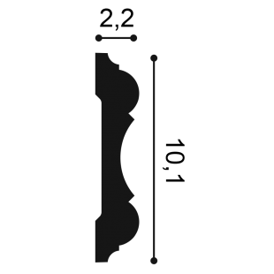 Profil ścienny flex ORAC DECOR P8040F