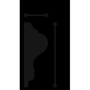 Profil ścienny flex ORAC DECOR P8030F
