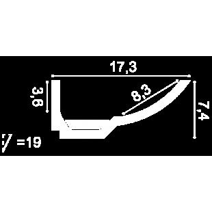 Gzyms oświetleniowy ORAC DECOR C351