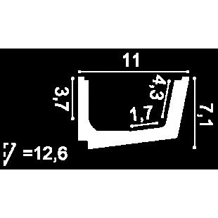 Gzyms oświetleniowy ORAC DECOR C357