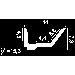 Gzyms oświetleniowy ORAC DECOR C358